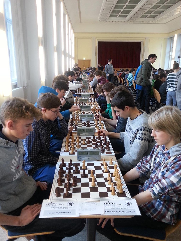 Schnellschachturnier der Berliner Schulen2014